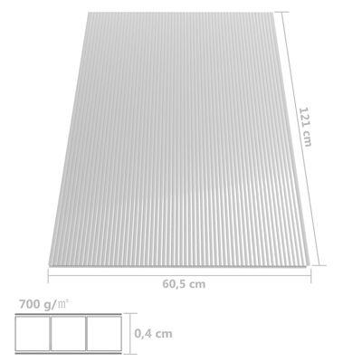 vidaXL Polykarbonaattilevyt 14 kpl 4 mm 121x60 cm