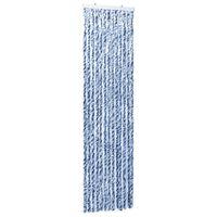 vidaXL Hyönteisverho sininen, valkoinen ja hopea 56x185 cm Chenille