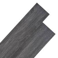 vidaXL PVC-lattialankut 5,26 m² 2 mm Musta ja valkoinen
