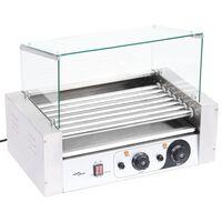 vidaXL 7-rullainen Hot Dog grillilaite lasikannella 1400 W