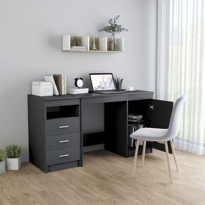 vidaXL Työpöytä harmaa 140x50x76 cm lastulevy