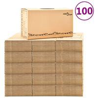 vidaXL Muuttolaatikot pahvi XXL 100 kpl 60x33x34 cm