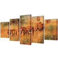 Taulusarja Leijonat 200 x 100 cm