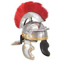 vidaXL Roomalaisen sotilaan kypärä antiikki kopio hopea teräs