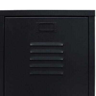 vidaXL Metallinen vaatekaappi teollinen tyyli 67x35x107 cm musta