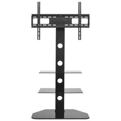vidaXL Kääntyvä TV-lattiateline VESA 600x400 mm 2 hyllyä