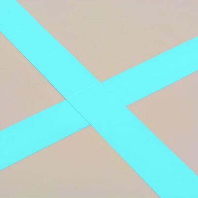 vidaXL Täytettävä voimistelumatto pumpulla 600x100x10 cm PVC vihreä