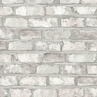DUTCH WALLCOVERINGS Tapetti tiilet valkoinen EW3104