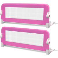vidaXL Turvalaita sänkyyn 2 kpl vaaleanpunainen 102x42 cm