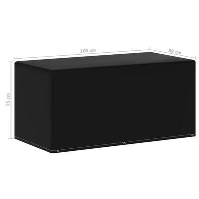 vidaXL Puutarhakalusteiden suoja 6 purjerengasta 160x80x75 cm