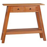 vidaXL Konsolipöytä 90x30x75 cm täysi mahonki