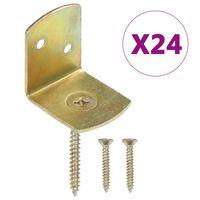 vidaXL Aitapaneelin kiinnikkeet 24 kpl L-muoto galvanoitu metalli