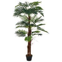 vidaXL Tekokasvi palmu ruukulla vihreä 165 cm