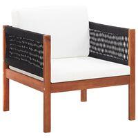 vidaXL Garden Chair with cushion Solid Acacia Wood
