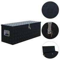 vidaXL Alumiinilaatikko 1085x370x400 cm musta