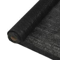 vidaXL Näkösuoja HDPE 1x50 m musta