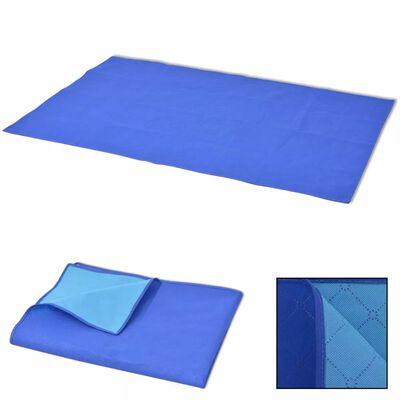 vidaXL Piknikviltti Sininen ja vaaleansininen 100x150 cm