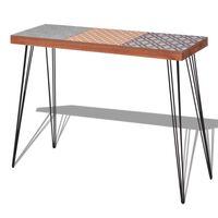 vidaXL Sivupöytä 90x30x71,5 cm Ruskea