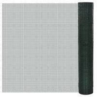 vidaXL Kanaverkko galvanoitu PVC pinnoitteella 10x1 m vihreä