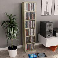 vidaXL CD-hylly Sonoma tammi 21x20x88 cm lastulevy