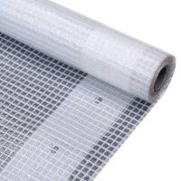 vidaXL Leno suojapeite 260 g/m² 3x6 m valkoinen