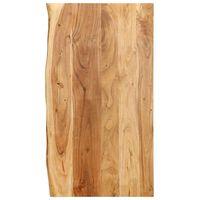 vidaXL Kylpyhuoneen peilipöydän levy täysi akaasiapuu 100x55x2,5 cm