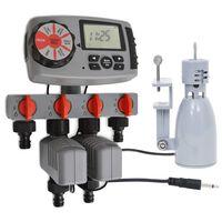 vidaXL Automaattinen kasteluajastin 4 asemaa ja sadetutka 3 V