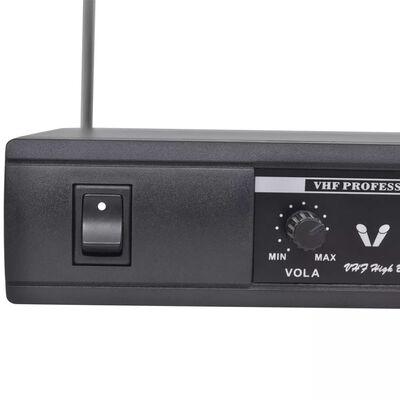 Vastaanotin 2:lla Langattomalla Mikrofonilla VHF