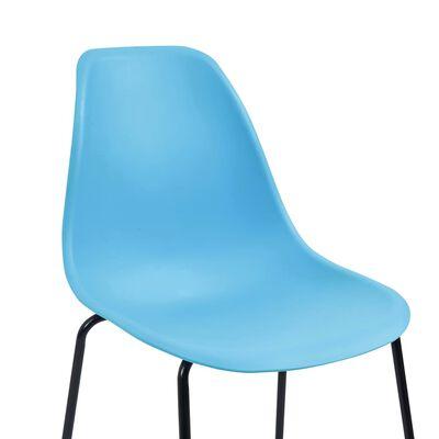 vidaXL Baarituolit 2 kpl sininen muovi
