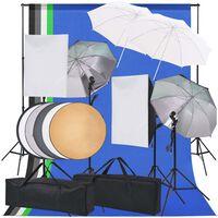 vidaXL Valokuvastudion valaisinsarja