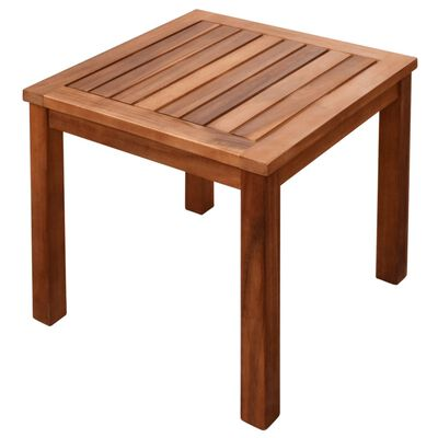 vidaXL Aurinkotuoli ja pieni pöytä akaasiapuu ja textilene