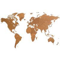MiMi Innovations Puinen maailmankarttakoriste Giant ruskea 280x170 cm