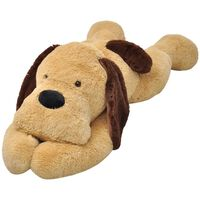 vidaXL Koira pehmolelu Ruskea 80 cm
