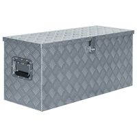 vidaXL Alumiinilaatikko 90,5x35x40 cm hopea