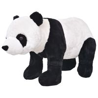 vidaXL Seisova pehmolelu panda musta ja valkoinen XXL