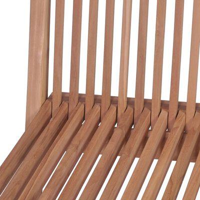 vidaXL Kokoontaitettavat puutarhatuolit 4 kpl tiikki