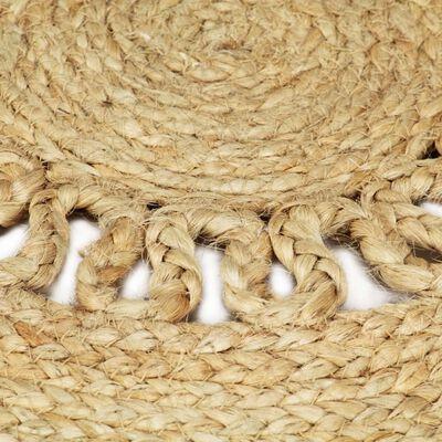 vidaXL Käsintehty matto punottu juutti 150 cm