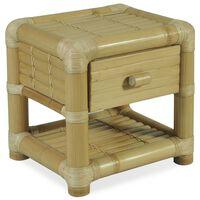 vidaXL Yöpöytä 45x45x40 cm bambu luonnollinen