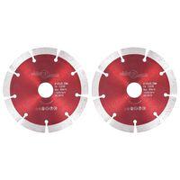 vidaXL Timanttikatkaisulaikat 2 kpl teräs 125 mm