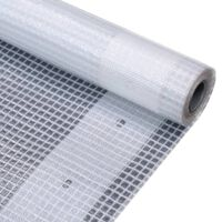vidaXL Leno suojapeite 260 g/m² 2x5 m valkoinen