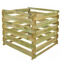 vidaXL Komposti 0,54 m3 neliö puusäleet
