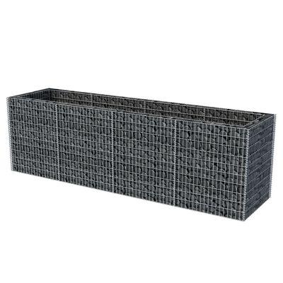 vidaXL Korotettu kivikorikehys teräs 360x90x100 cm