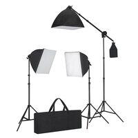vidaXL Valaisinsetti: 3 studiovaloa kolmijaloilla & softboxeilla