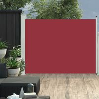vidaXL Sisäänvedettävä terassin sivumarkiisi 170x500 cm punainen