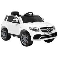 vidaXL Lasten auto Mercedes Benz GLE63S muovi valkoinen