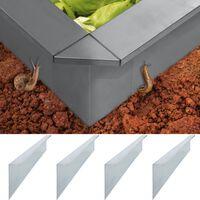 vidaXL Etana-aitalevyt 4 kpl galvanoitu teräs 100x7x25 cm 0,7 mm