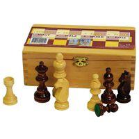 Abbey Game shakkinappulat 87 mm musta/valkoinen 49CL