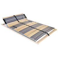 vidaXL Sängyn sälepohja 42 säleellä 7 vyöhykettä 120x200 cm
