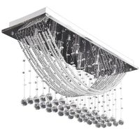 Valkoinen kattovalaisin kimaltelevilla lasikristalleilla 8xG9 29cm