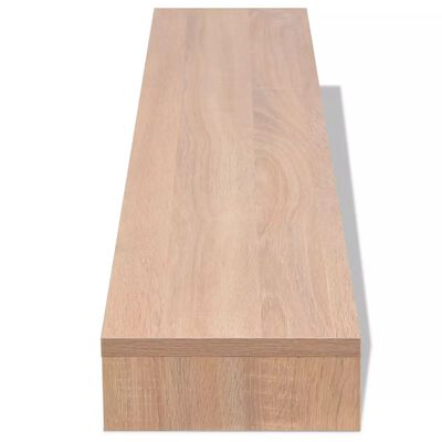 vidaXL Näyttökoroke lastulevy 118x23,5x9 cm Beige